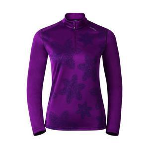 God Jul Print Midlayer 1/2 Zip Pullover Women - magenta purple