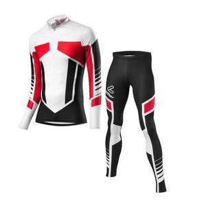 Woldcup Skiing Racing Suit Kids - black-red
