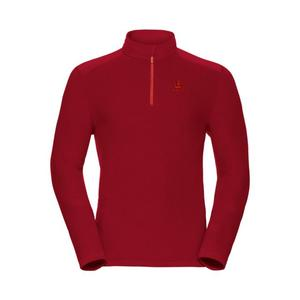 Le Tour 1/2 Zip Midlayer Pullover - red dahlia