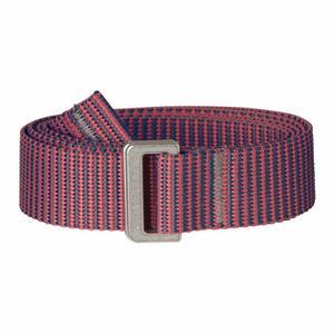 Striped Webbing Belt - peach pink/dusk