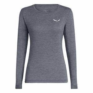 Puez Melange Dry'Ton Long Sleeved Women Shirt - navy blazer melange