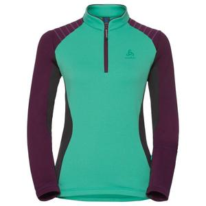 Pact Midlayer 1/2 Zip Pullover Women - mint leaf - pickled beet - odlo graphite grey