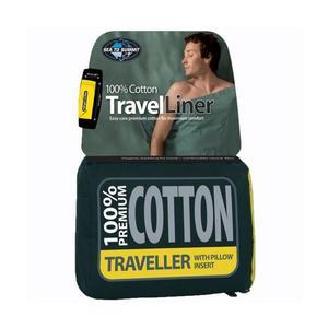 Premium Cotton Travel Liner - Mummy - navy blue