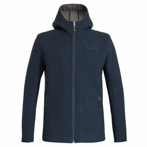 Sarner 2 Layer Wool Hoody - poseidon