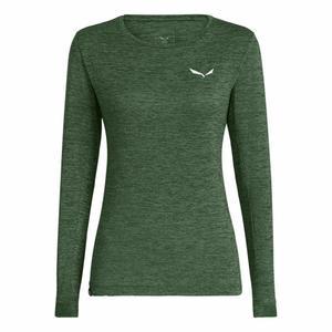 Puez Melange Dry'Ton Long Sleeved Women Shirt - duck green melange