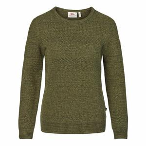 Övik Structure Sweater Women - laurel green/green