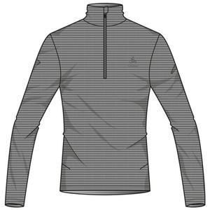 Roy Midlayer 1/2 Zip Shirt - granite - metal stripes