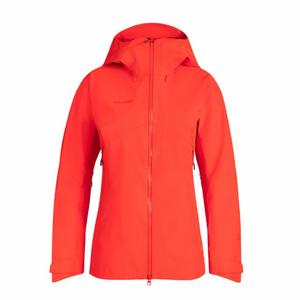 Crater Hardshell Hooded Jacket Women - spicy