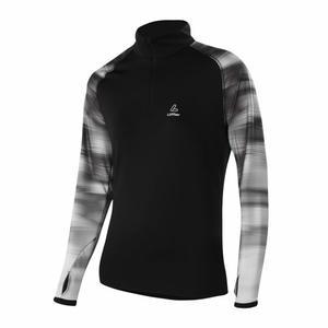 Zip-Sweater Kaleido Thermo-Velours Women - black
