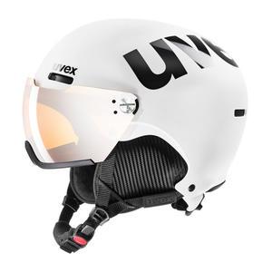 Uvex 500 Visor Skihelmet - white/black mat
