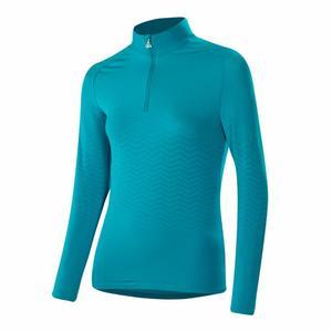 Zip-Sweater Transtex® Hybrid Women - topaz blue