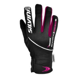 Ortles Glove Women - black-magenta