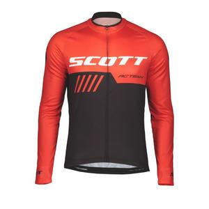 RC Team 10 Long Sleeve Shirt - fiery red/black