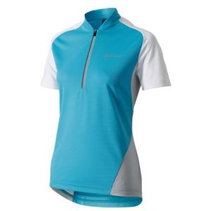 Bike Trikot Action Half Zip Women blue/white