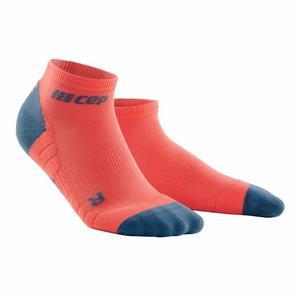 Compression Low Cut Socks 3.0 - coral/grey