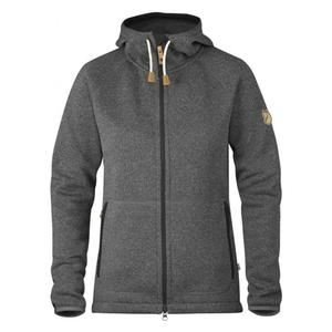 Övik Fleece Hoodie Women - dark grey