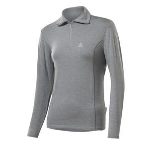 Transtex Basic Zip-Sweater Women - grey melé