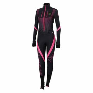 Race Suit Women - black/pink fluo