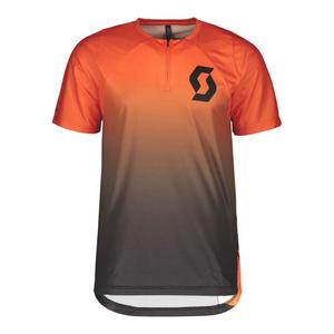 Trail Vertic Zip Shirt - exotic orange/black