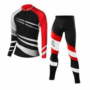 XC Skiing Racing Suit Worldcup - black/red