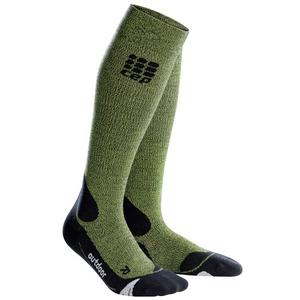 Outdoor Merino Socks Women green/black