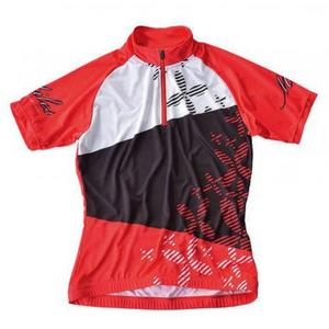 Miles Damen Bike Trikot Printed - red-black