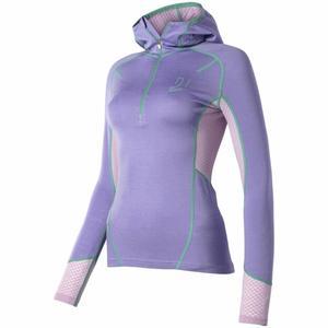 Lithe Tech Wool Hood Women - purple