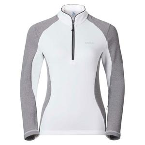 Pact Midlayer 1/2 Zip Pullover Women - white - grey melange