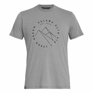 Alta Via Dry-Release Short Sleeved T-Shirt - heather grey