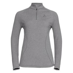 Glade Midlayer 1/2 Zip Shirt Women - grey melange with print FW17