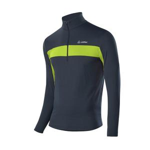 Zip-Sweater Marco Thermo-Velours - graphite/lime
