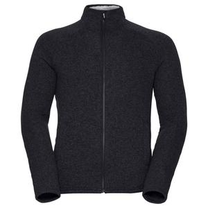 Sherpa Midlayer Full Zip Jacket - black melange