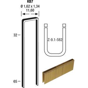 Klammern Type KB7 41 mm aus Stahldraht verzinkt und geharzt (10220 St)