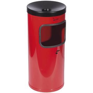 Sicherheits-Wandabfallascher mit Kippvorrichtung ø 180 mm Höhe 410 mm rot