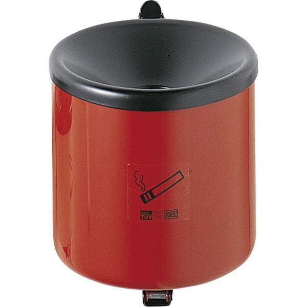 Sicherheits-Wandascher mit Kippvorrichtung ø 90 mm Höhe 100 mm rot