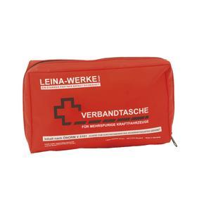 KFZ-Verbandtasche ÖNORM V 5101 Größe 240 x 60 x 140 mm rot, Druck weiß