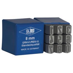 Schlagziffern-Satz Standard 4 mm
