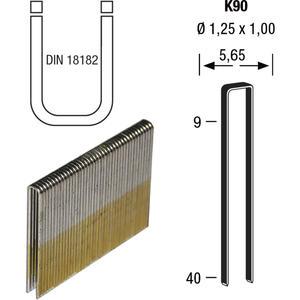 Klammern Type K90 16 mm aus Stahldraht verzinkt und geharzt (6000 St)