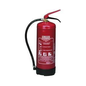 Pulverlöscher PD6 GA, Stahlblech rot lackiert Löschmenge 6 kg Brandklasse A, B, C
