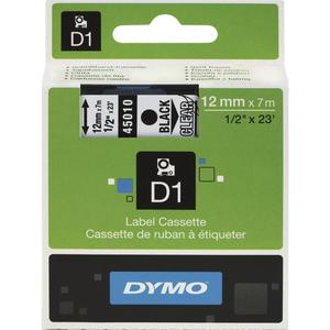 -Kassetten Beschriftungsband D1 schwarz/weiß Breite 12 mm Länge 7 m