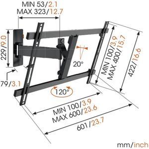 "Vogel's LED LCD/Plasma-Wandhalter WALL 3325, 120°, 40-65"", 30 kg, schwarz"