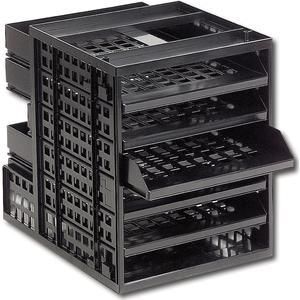 Ablagebox 1, Breite 250 mm, Höhe 320 mm, Kunststoff schwarz RAL 9011