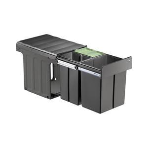 Profiline Bio-Trio-Maxi 40 DT Einbau-Abfallsammler, 1x20L/ 2x 10L, anthr.