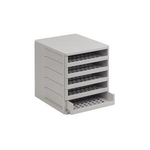 Ablagebox Ordner, Breite 275 mm, Höhe 320 mm, Kunststoff weißgrau