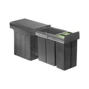 Profiline Bio-Double 30 DT Einbau-Abfallsammler, 1x20L/ 1x10L, anthrazit