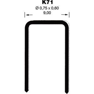 Klammern K71 6 mm aus Stahldraht verzinkt und geharzt (10000 St)