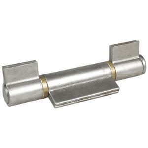Anschweißband 3-teilig I-Lappen; Stahl blank; Stift 16 mm mit Messinring