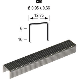 Klammern Type K80 10 mm aus Stahldraht verzinkt (12300 Stück)