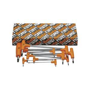 Stiftschlüssel-Satz Torx® mit Quergriff, Seitenabtrieb und Halter 13-teilig