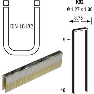 Klammern Type K92 35 mm aus Stahldraht verzinkt und geharzt (4400 St)